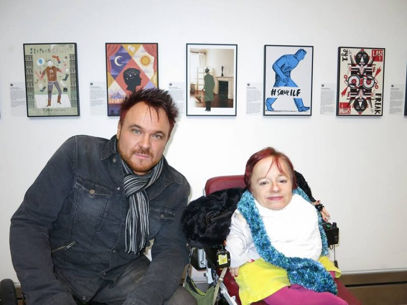 Me & Mik at the ICA / Graeae exhibition, earlier this year :-)